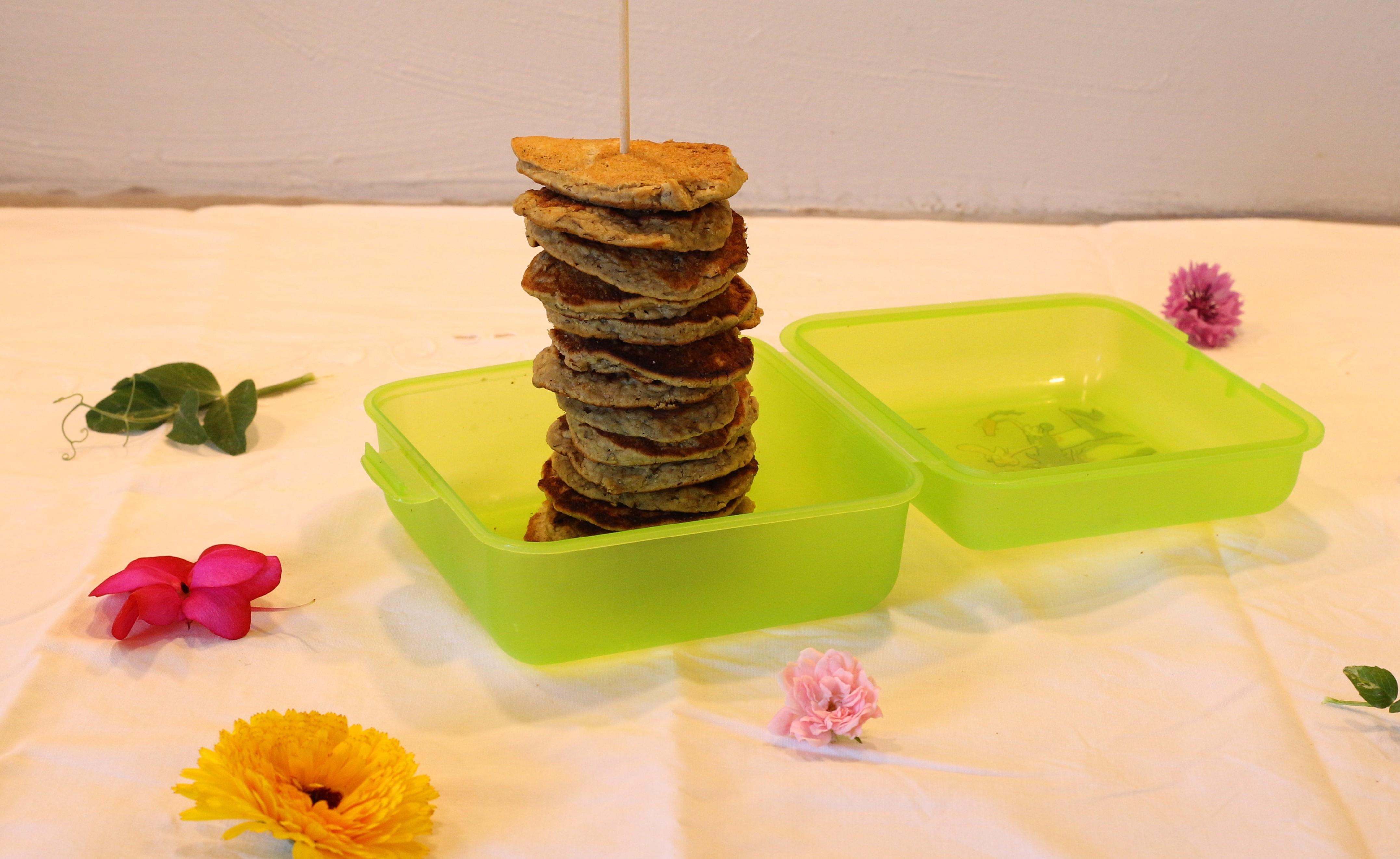 Glutenfri og laktosefri sunde havrepandekager i madpakken eller til morgenmad